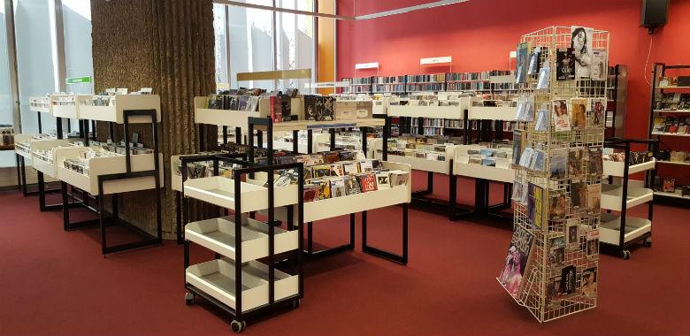 Découvrez l'espace musique de la bibliothèque Andrée Chedid |
