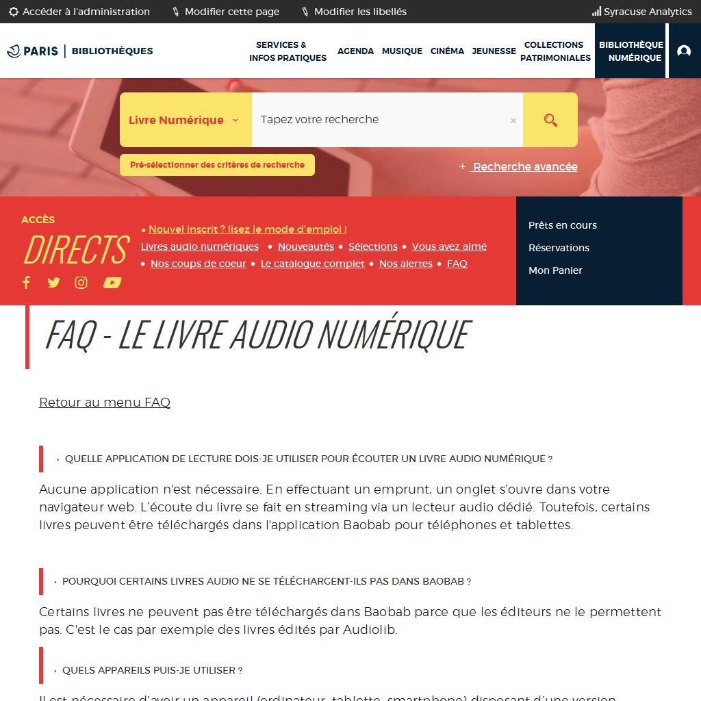 FAQ - Le livre audio numérique |