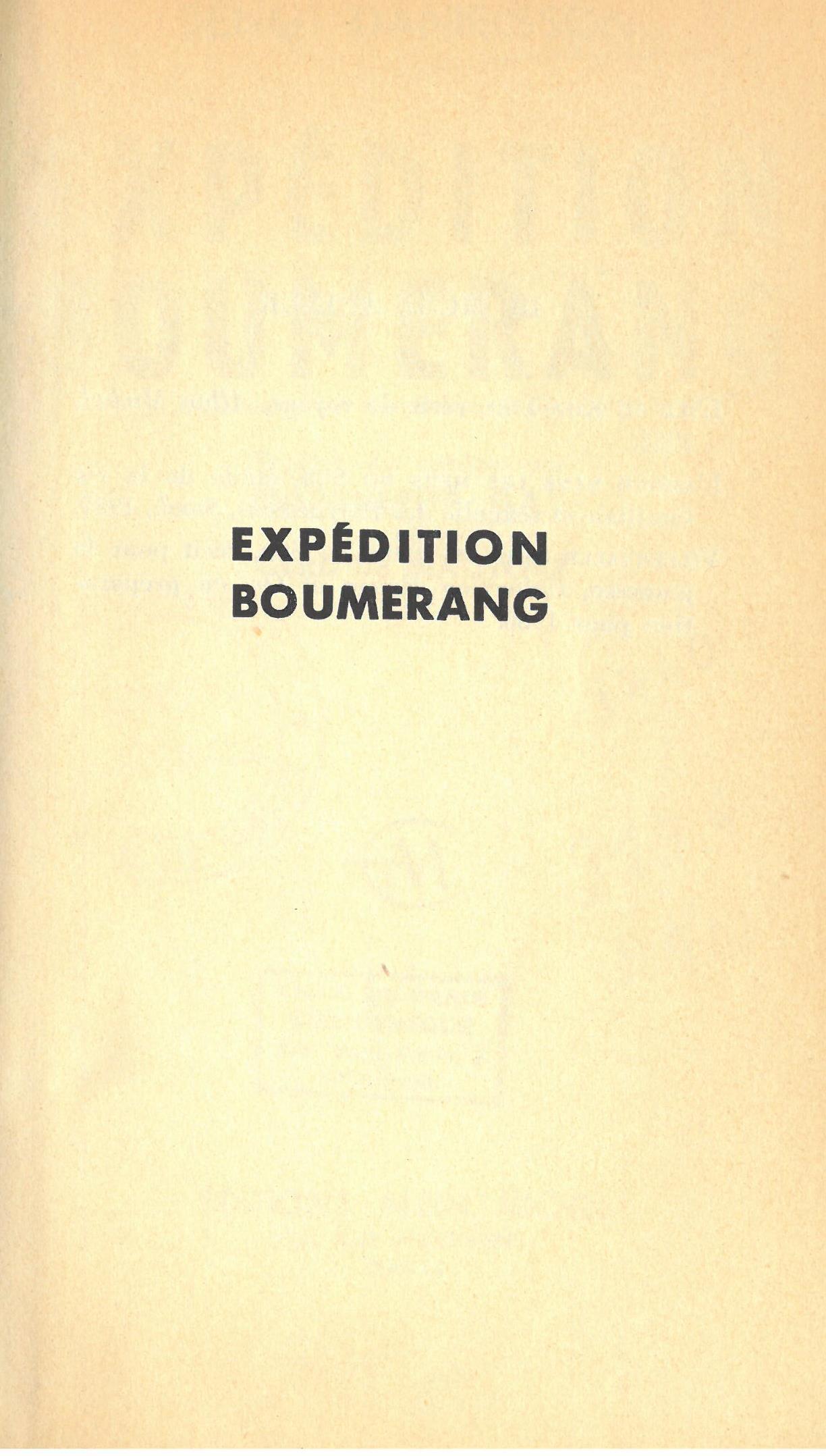 Expédition boumerang   Bengt Danielsson