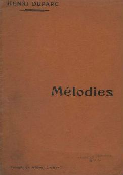 Mélodies. 2, Voix moyennes | Henri Duparc (1848-1933)
